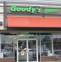 Photograph of Goodys Cleaners at Park and Tilford in North Vancouver showing dry cleaning and laundry signage
